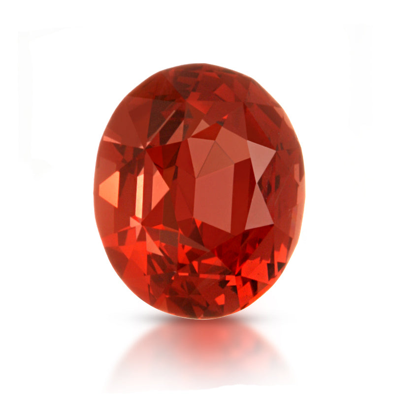 Natural Orange Spinel Oval Shape 2.63 Carats