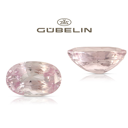Natural Unheated Ceylon Pink Sapphire Oval Shape 5.58ct With GUBELIN Report