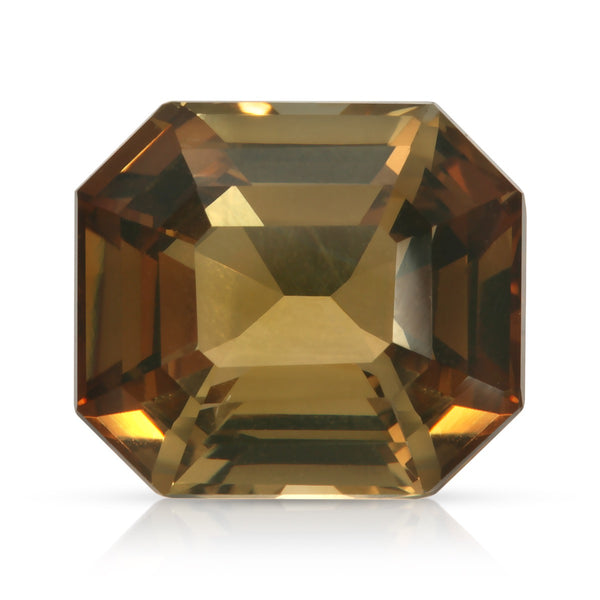 Natural Unheated Andalusite Orange Brown Octagonal Shape 8.19 Carats With GIA Report