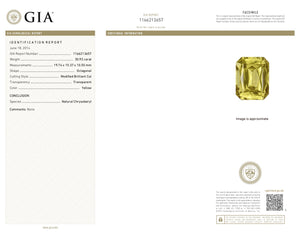 Tawny. Natural Chrysoberyl Gemstone 30.92ct With GIA Report (Unheated)