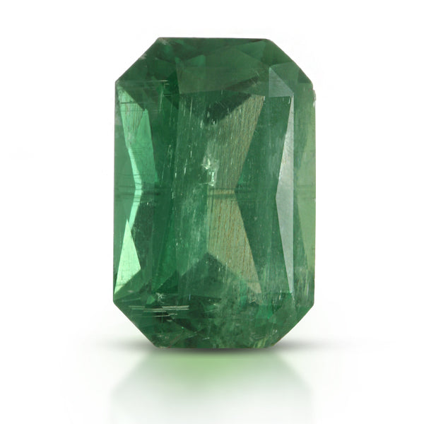 Natural Unheated Rare Green Kyanite Emerald Shape 10.98 Carats With GRS Report