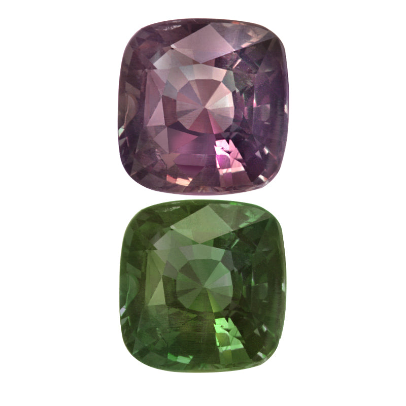 Natural Alexandrite Blue-Green Changing to Purple Color Cushion shape  3.26 Carats With GIA Report