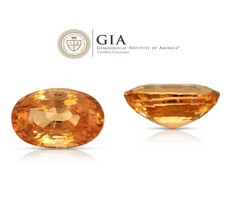 Load image into Gallery viewer, Cinnamon Girl. Hessonite Garnet 14.64ct With GIA report (Unheated)