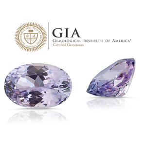 Lavender Blue. Purple Zoisite 2.66ct With GIA Report (Unheated)