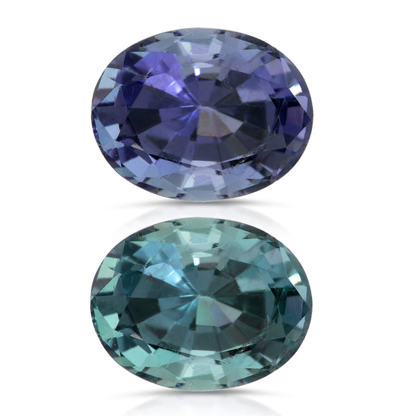 Natural Copper Bearing Tourmaline Purple Changing to Grayish Blue 6.07 Carats With GIA Report