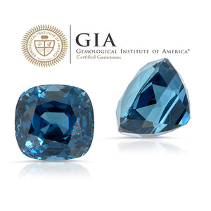 Deep Space. Blue Sapphire 4.31ct With GIA Report (Unheated)