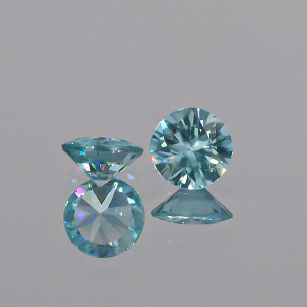 Natural Blue Zircon Pair 3.87 Total Carats