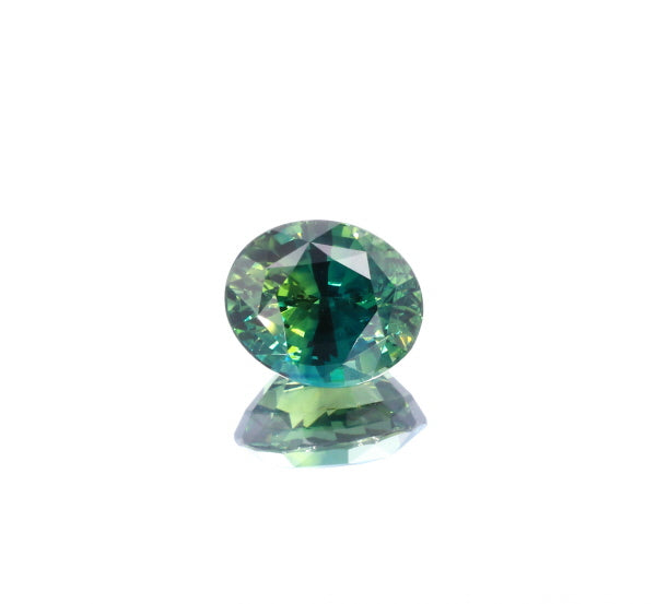 Natural Heated Blue Greenish Sapphire Oval Shape 5.99 Carats With GIA Report