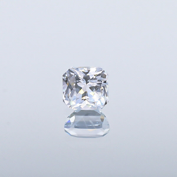 Natural Unheated White Sapphire Square Shape 3.09 Carat With GIA Report