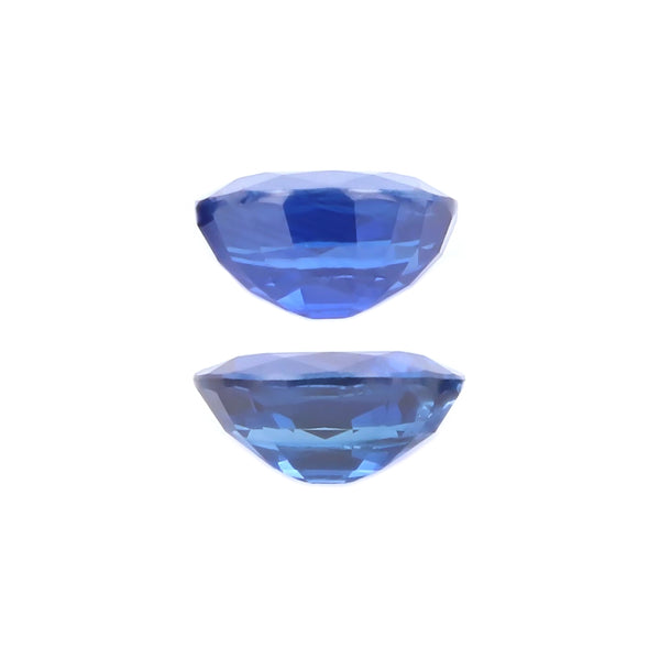 Natural Heated Blue Sapphire Pair  Oval Shape 4.07 Total Carat Weight With GIA Report