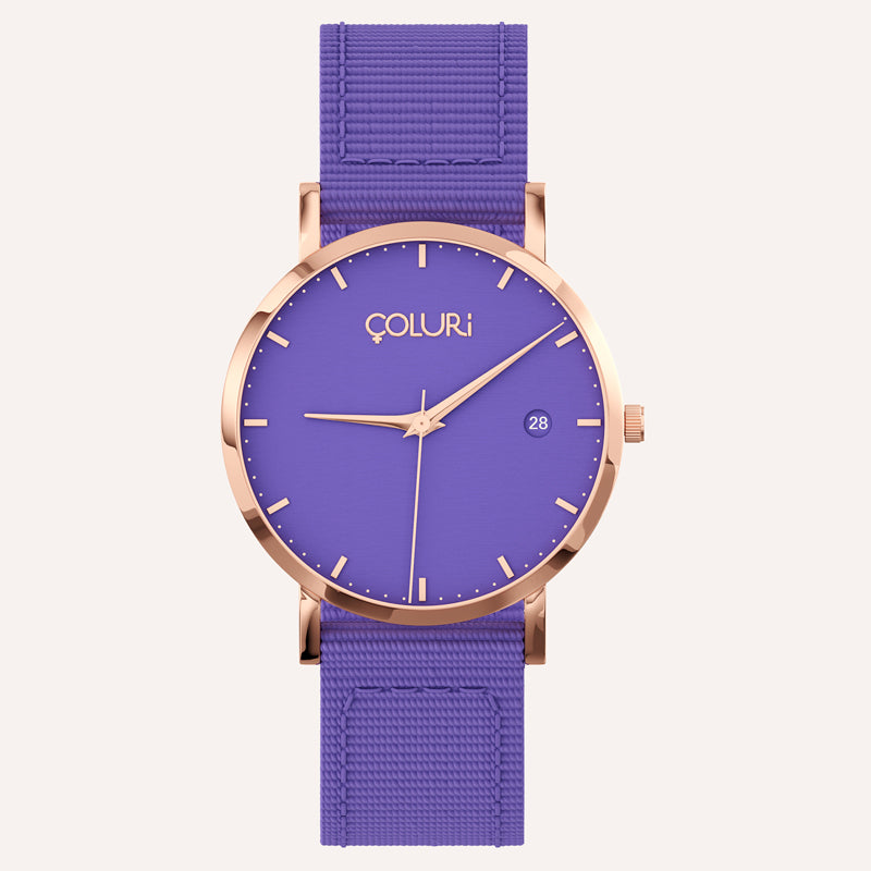 Side of watch - Silver - fabric band - coluri