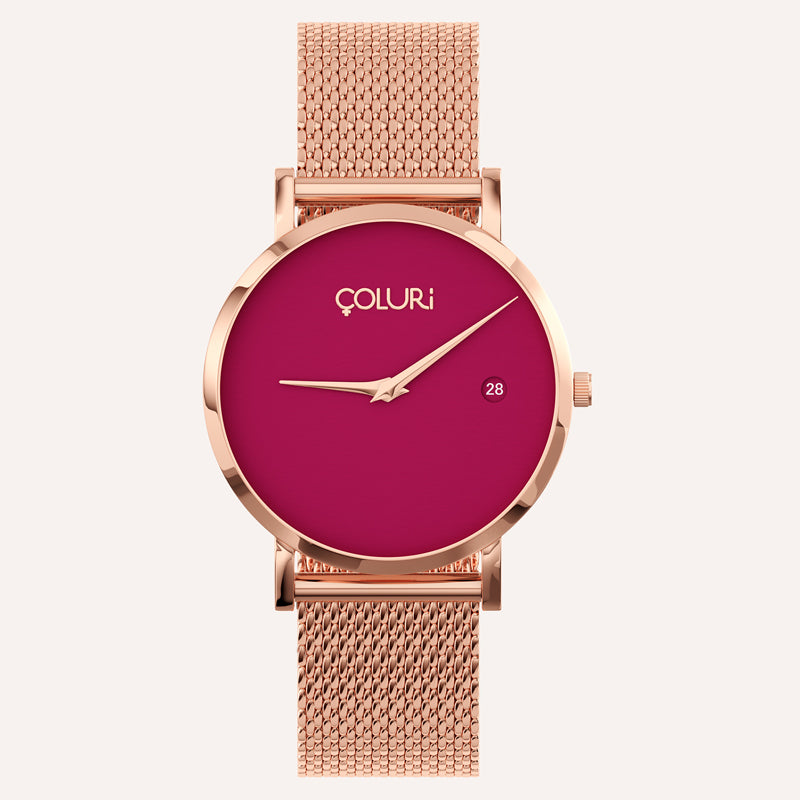 Side of watch - Silver - mesh band - coluri
