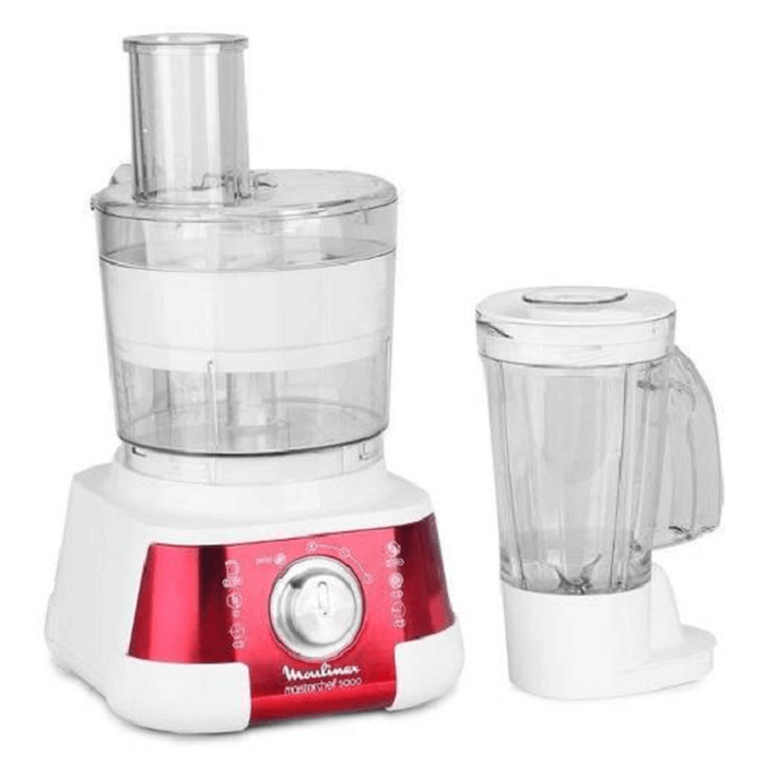MOULINEX Food Processor 750W 1.25L 2 Speeds - Red & White