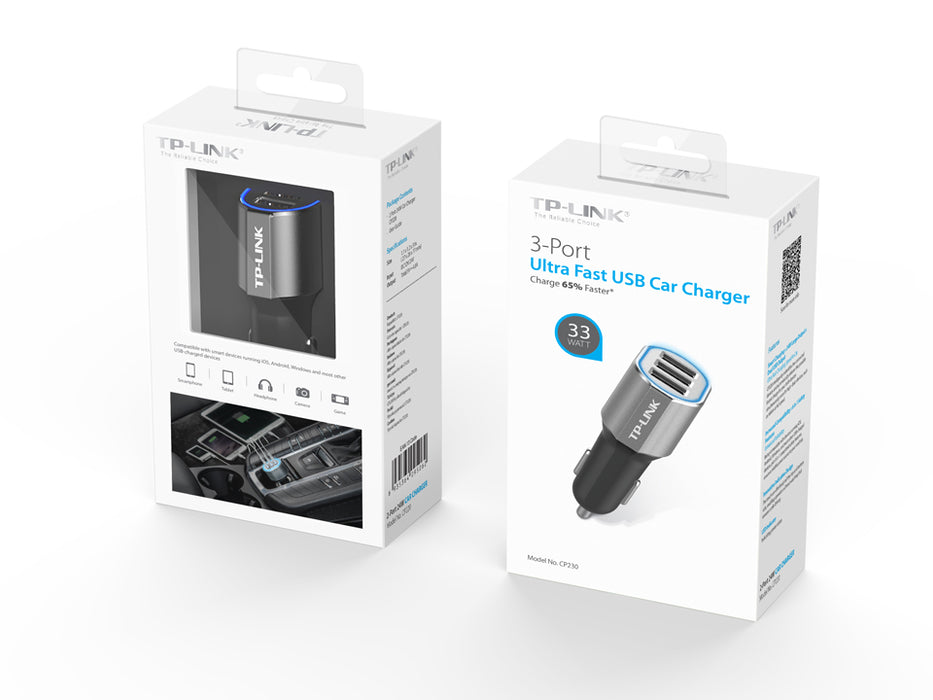 TP-LINK Car Charger-33W 3-Port USB
