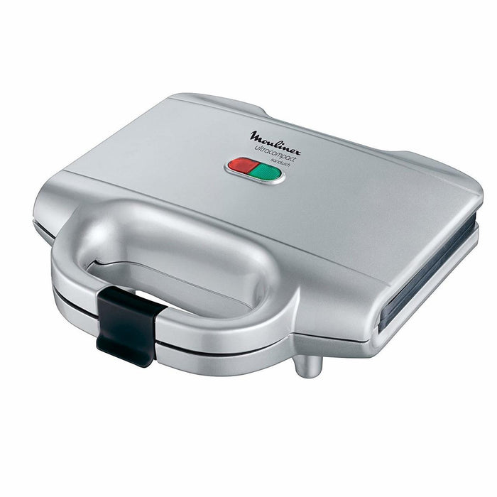 MOULINEX SANDWICH MAKER SM156 -700W -FIXED NON STICK PLATES-SILVER
