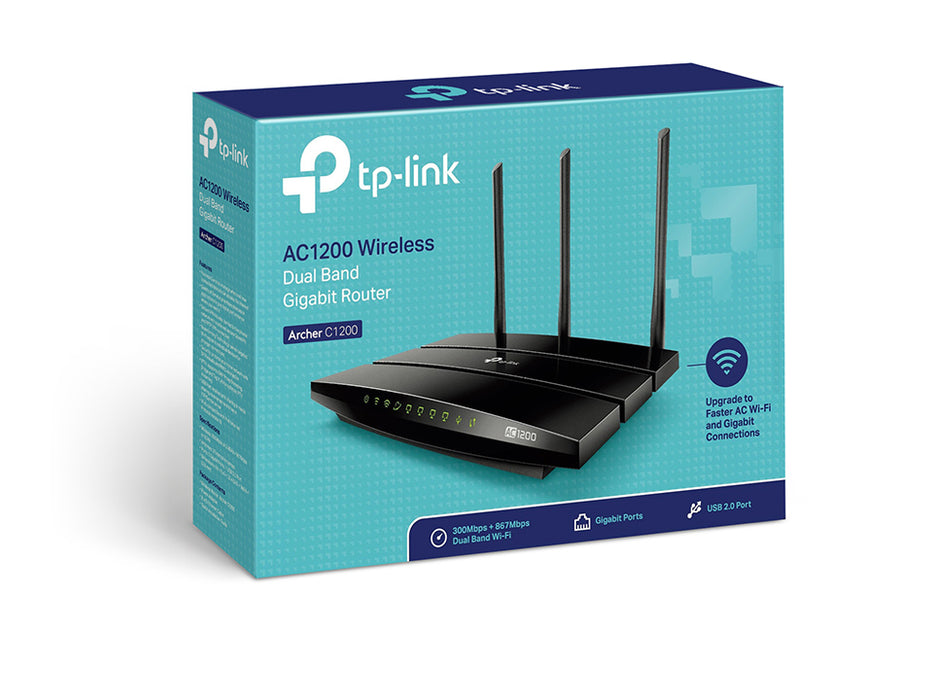 TP-Link AC1200 Wireless Dual Band Gigabit Router-Archer C1200