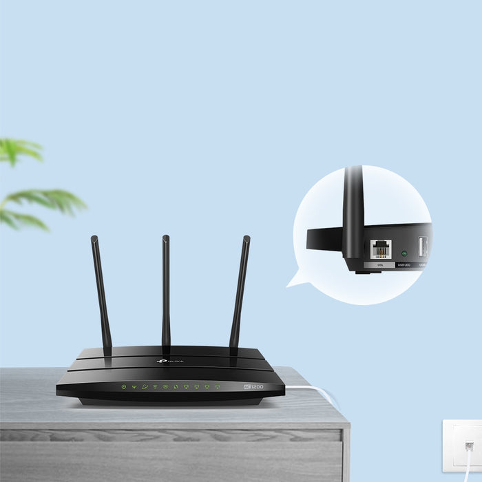 TP-Link AC1200 Wireless VDSL/ADSL Modem Router-Archer VR400