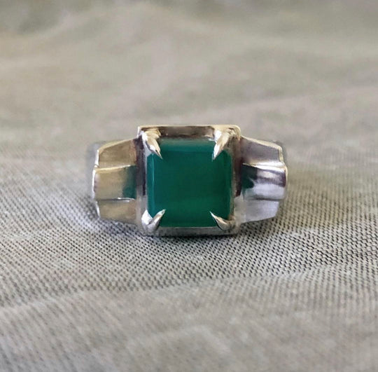 Bespoke Art Deco Agate Queen Ring For Xeni's 40th ~ Regal Collection