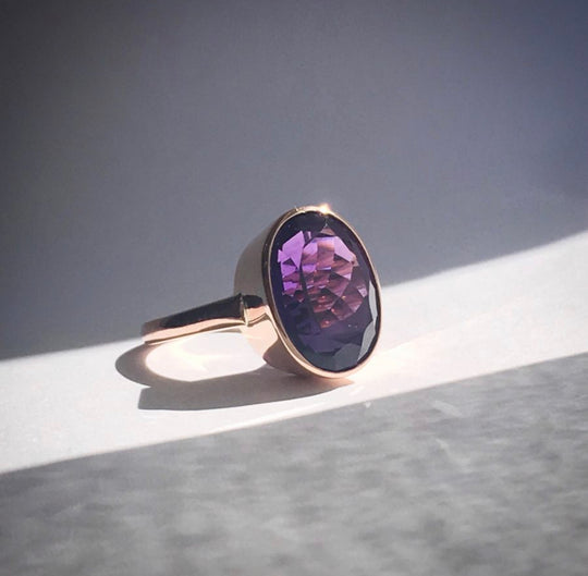 The Amethyst Queen cocktail ring regal collection