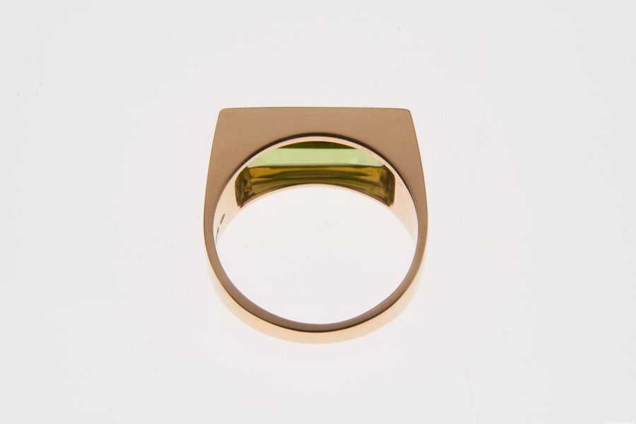 Gold Peridot Empress Cocktail Ring