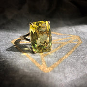 The Canary Queen Gold & Yellow Quartz Cocktail Ring Ring Rosie Odette Jewellery