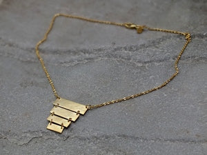 Silver & Gold Aztec Warrior Necklace Necklace 16 Inches Rosie Odette Jewellery