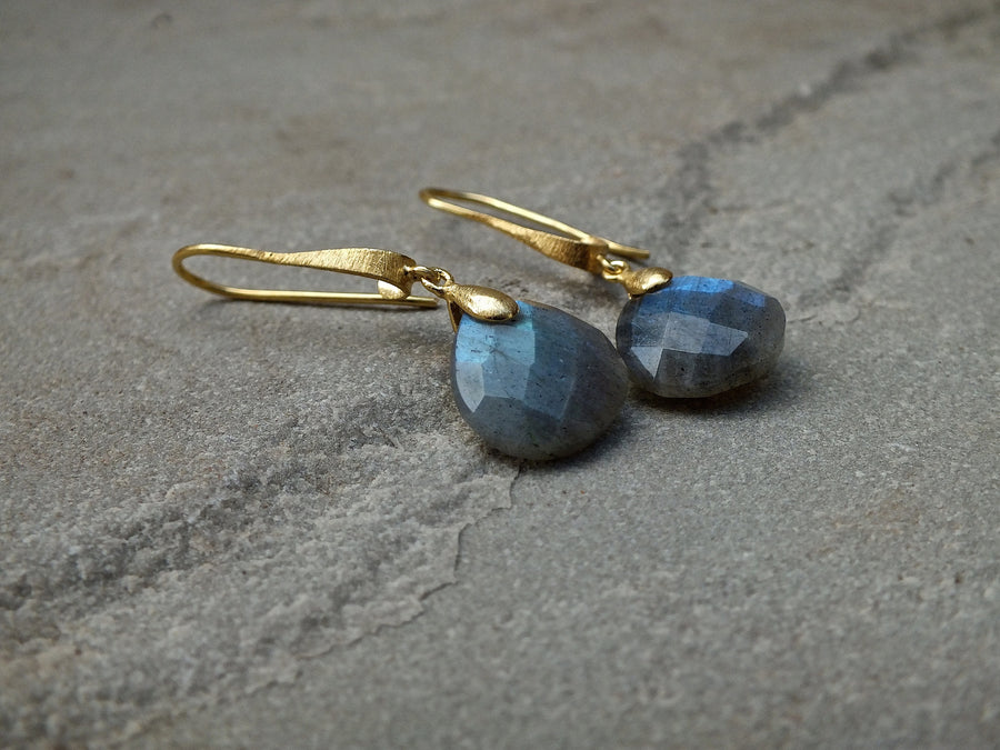 Labradorite Hook Drop Earrings