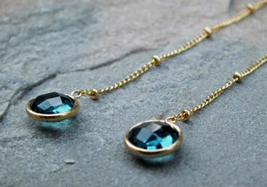 Blue Quartz Long & Short Drop Earrings Earring Long Rosie Odette Jewellery