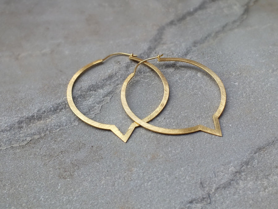 Silver & Gold Warrior Hoops