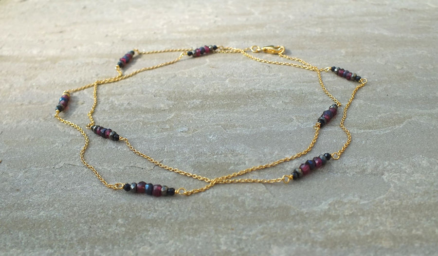 Ladli Garnet Necklace Necklace Rosie Odette Jewellery