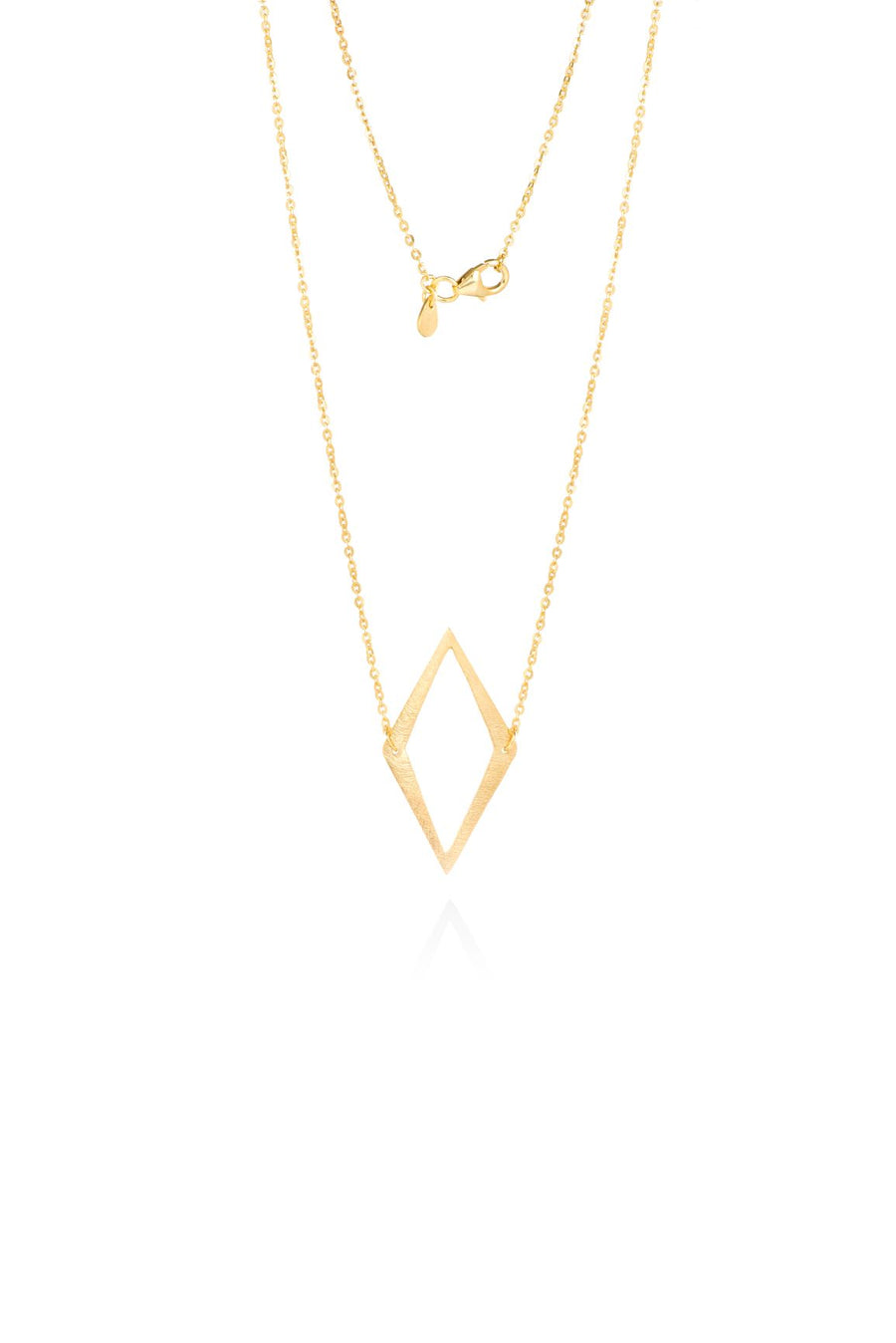 Silver & Gold Warrior Diamond Pendant Necklace