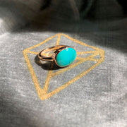 Arizona Princess Gold & Turquoise Ring Ring Rosie Odette Jewellery