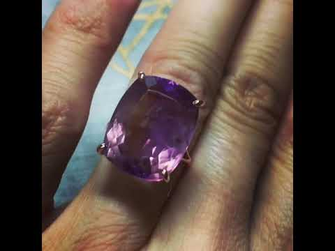 Rose Gold Ametrine Queen Cocktail Ring