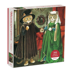 Arnolfini Marriage Meowsterpiece of Western Art 500 Piece Puzzle