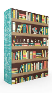 Home Library Book Box Puzzle, Clamshell