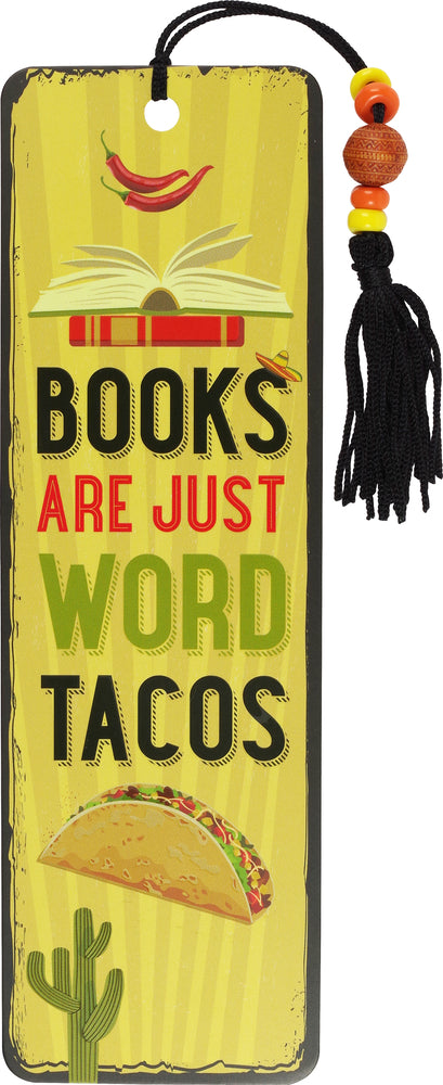 Books Are Word Tacos Beaded Bookmark