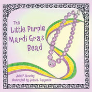 Little Purple Mardi Gras Bead