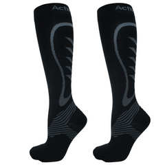 activsocks sports compression socks black/grey