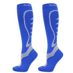 ActivSocks sports compression socks blue/grey