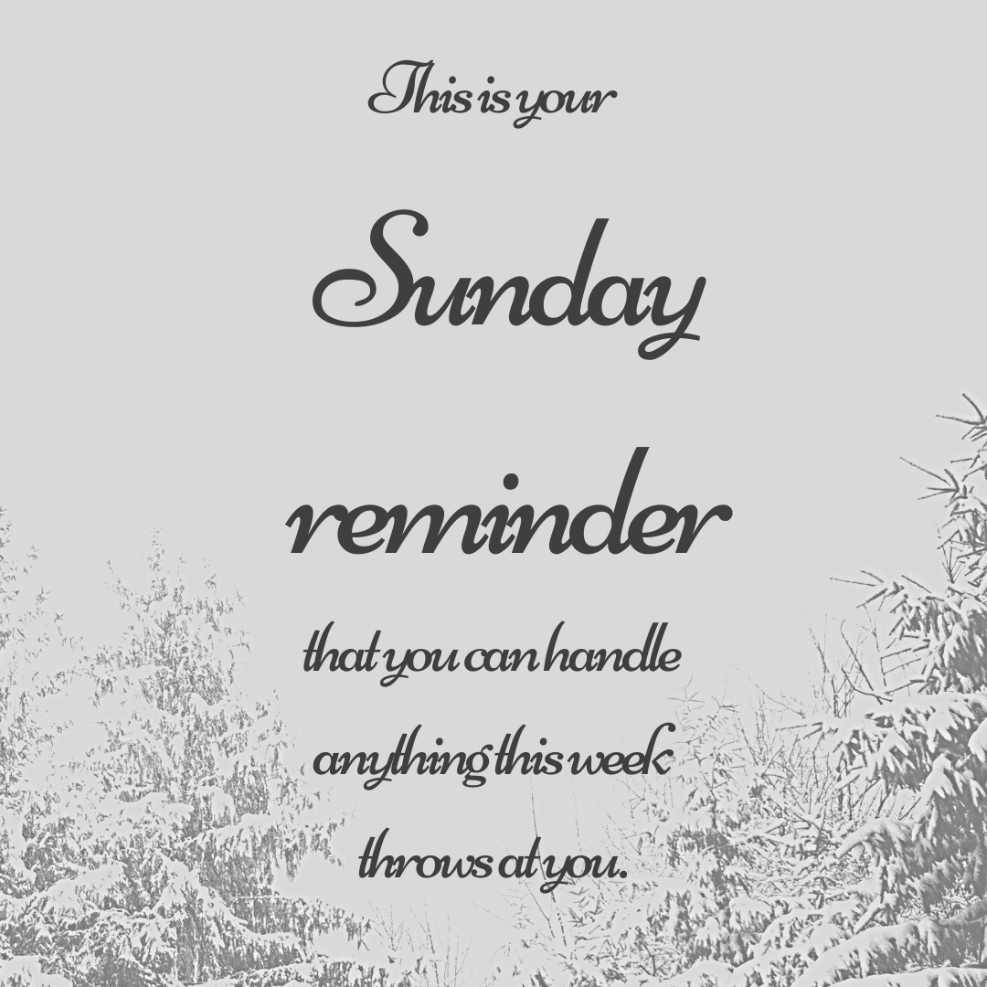 Sunday Reminder!