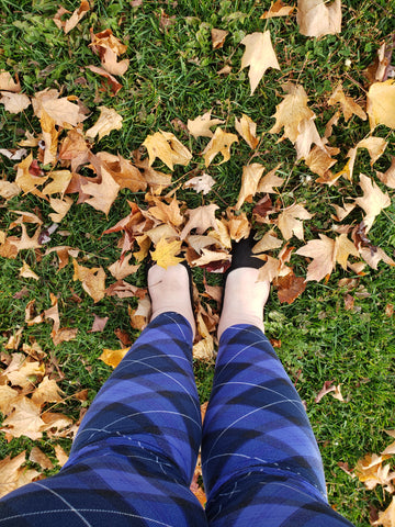 Standing in leaves