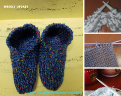 Collage of knitting items