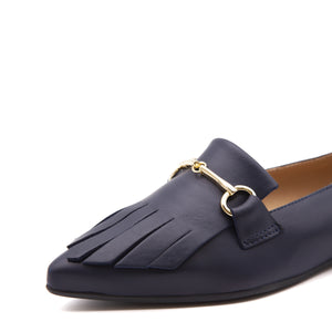 Leather-colored loafers