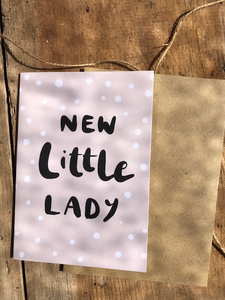 New Little Lady Maybear Design Card - The Jute Basket