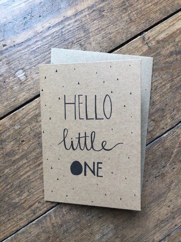 Hello Little One Maybear Design card - The Jute Basket