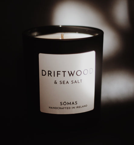 SOMAS Driftwood & Seasalt Candle - The Jute Basket