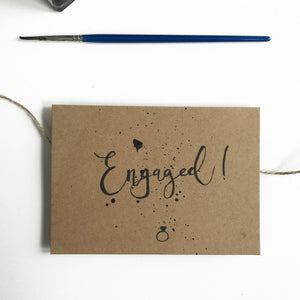Engaged Maybear Design card - The Jute Basket