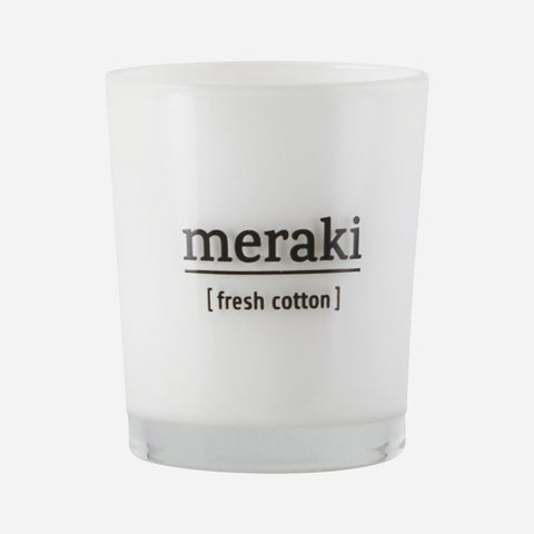 Meraki Candle in Fresh Cotton - The Jute Basket