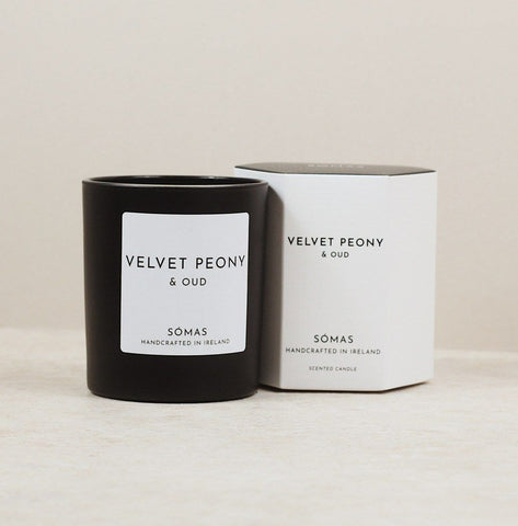 SOMAS Velvet Peony & Oud Candle - The Jute Basket