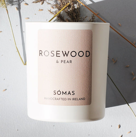 SOMAS Rosewood & Pear Candle - The Jute Basket